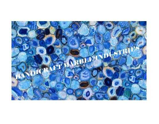 """48""""x30"""" Blue Agate Table Top Rectangular Table, Center Table, Coffee Table,"""