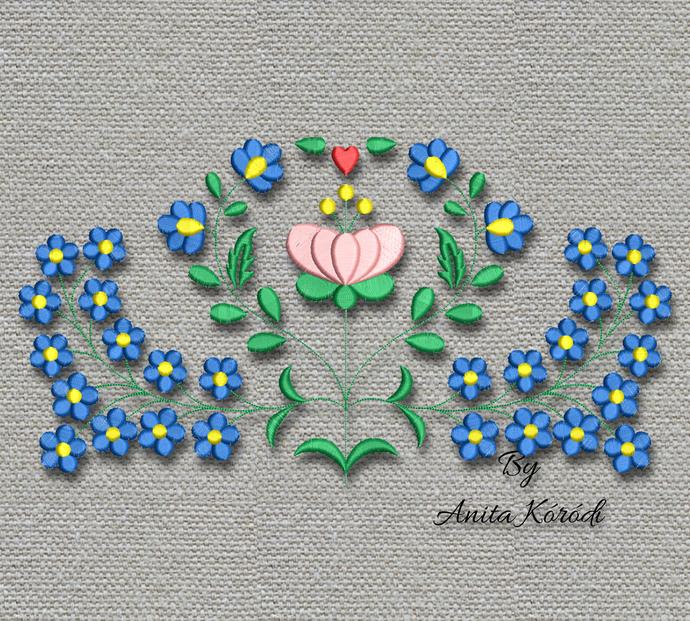 Flower Embroidery Design For Machine Folk Pattern Instant Digital Download Pes