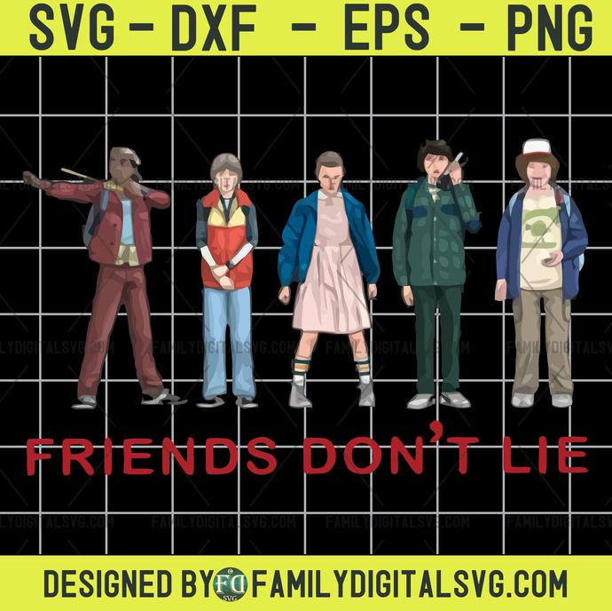 Friends don't lie svg, Demogorgon svg, Upside Down svg, Stranger Things svg,