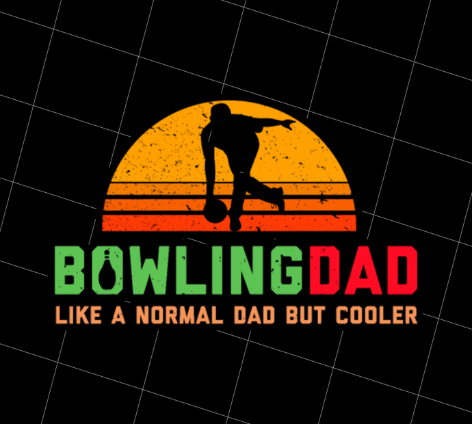 Bowling Dad, Retro Cool Bowler Gift, Bowling, Gift Idea, Digital Art, Printable