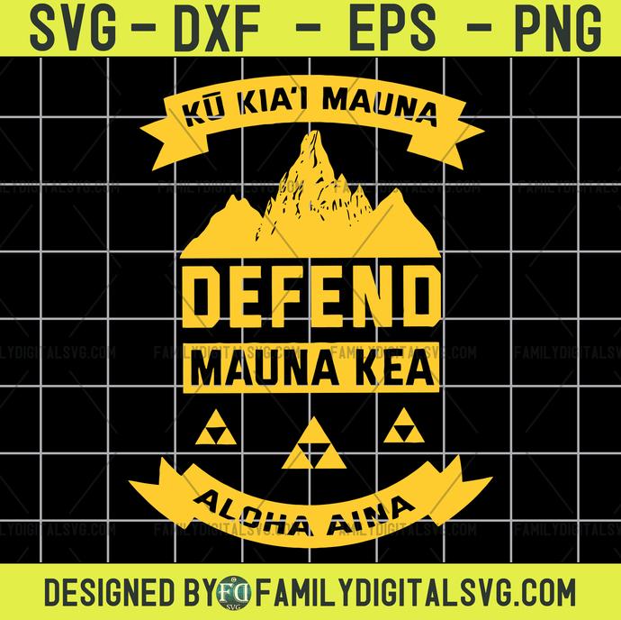 ku kiai mauna svg, Mauna Kea Svg, Kea Svg, Defend Mauna Kea Svg, Silhouette Svg,