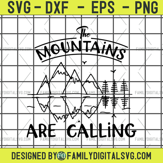 Mountains Are Calling Disney svg, dxf, eps, png, jpg cutting files - cricut,