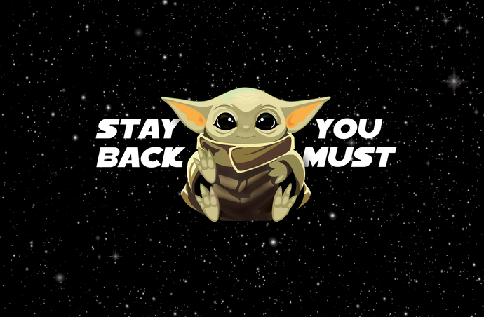 Baby Yoda Virus stay back you must v1, Little green guy, germ, peace love baby
