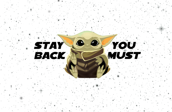 Baby Yoda Virus stay back you must v2, Little green guy, germ, peace love baby
