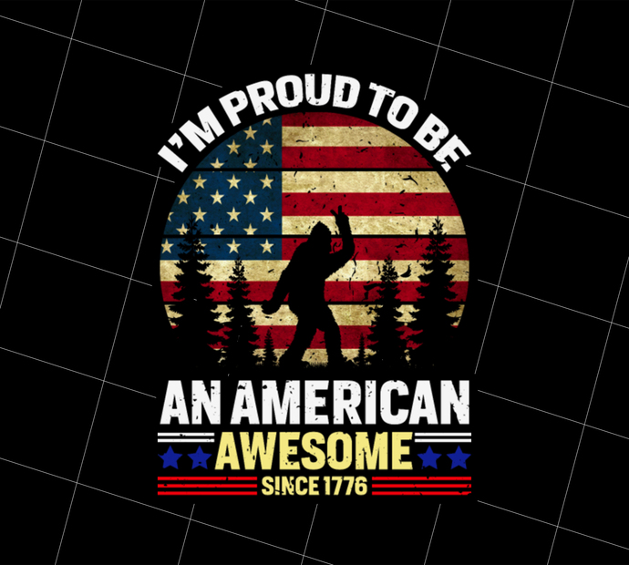 I'M PROUD TO BE AN AMERICAN, Patriotic USA, Tops & Tees, Gift Idea, Digital Art,