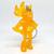 Fifa World Cup Korea Japan Mascot ATO Figure Keychain / Bag Charm - Soccer