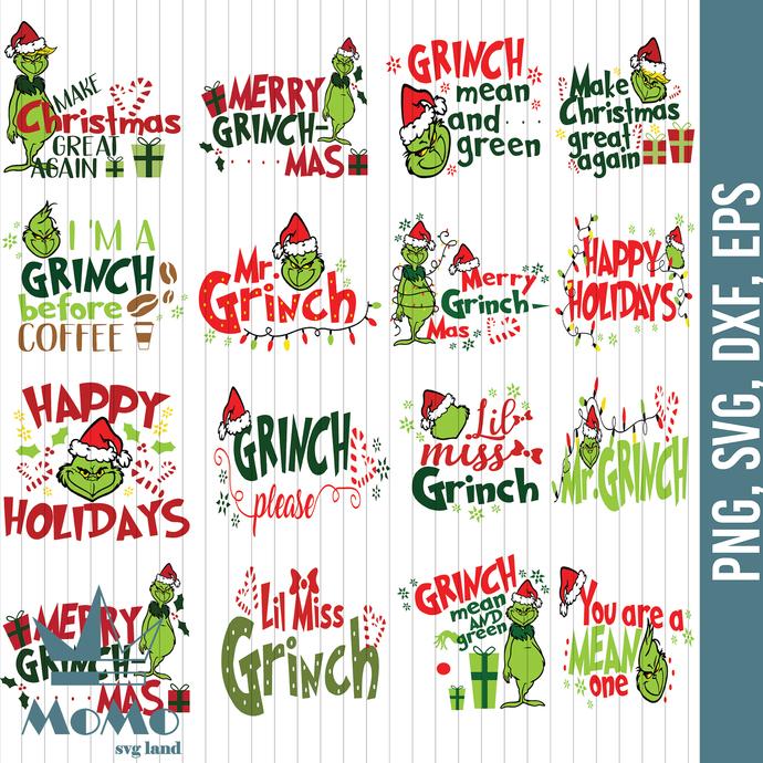 Grinch Svg, Dr.Seuss Svg, Christmas Grinch, Christmas Gift, Merry Christmas,