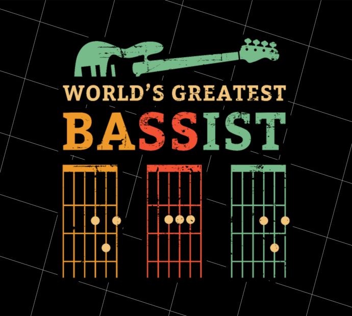 Retro Bassist Dad, Guitar Dad Gift, Guitar Player, Acoustic Guitar, Gift Idea,
