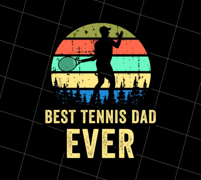 Tennis Dad, Retro Dad Tennis Gift, Vintage Tennis, Gift Idea, Digital Art,