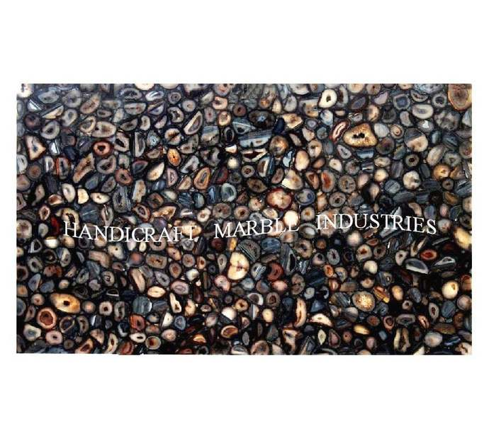 """48""""x30"""" Agate Table Top Rectangular Table, Center Table, Coffee Table, Patio"""