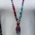 Long beaded Necklace by Inara, Hot Pink, Blue & Purple Druzy with Tourmaline,