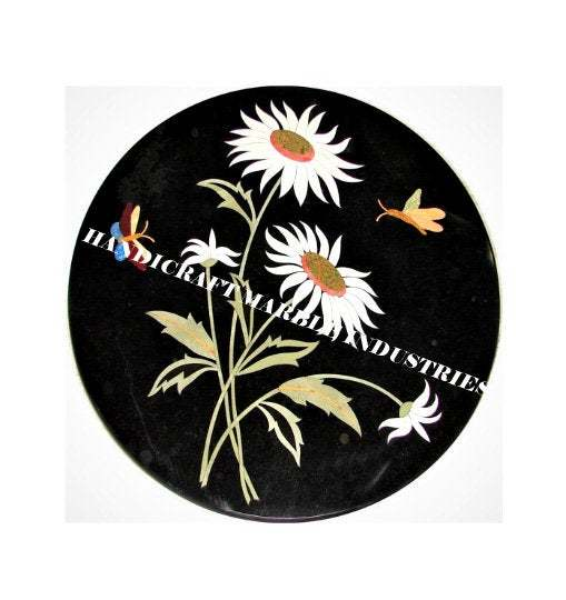 Marble Coffee Center Table Top Butterflies Inlay Marquetry Decor Table Wall Home