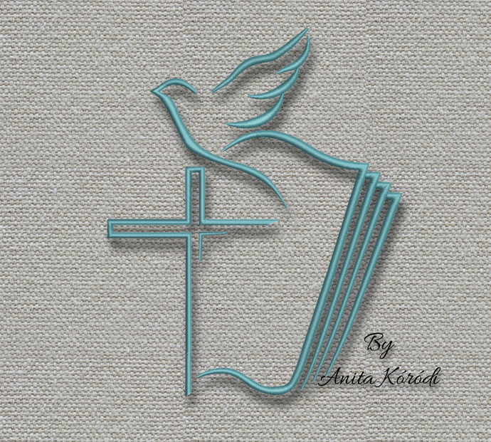 Machine Embroidery Design Dove Cross pes designs machine digital instant