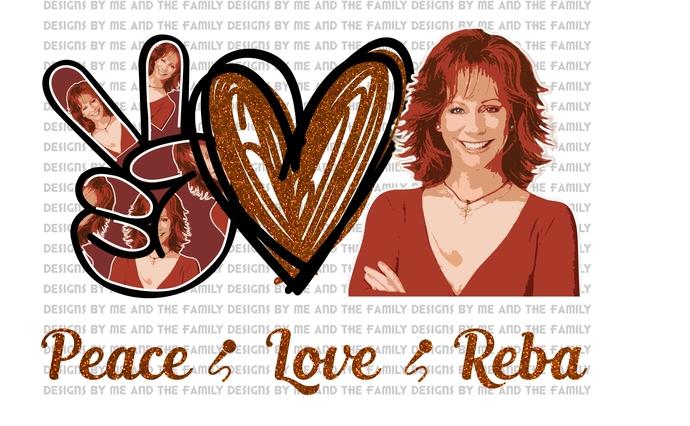Peace love Reba v2, Country Music Star, Reba McIntyre, Grand Old Opry, Nashville