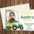 Green Tractor Birthday Invitation