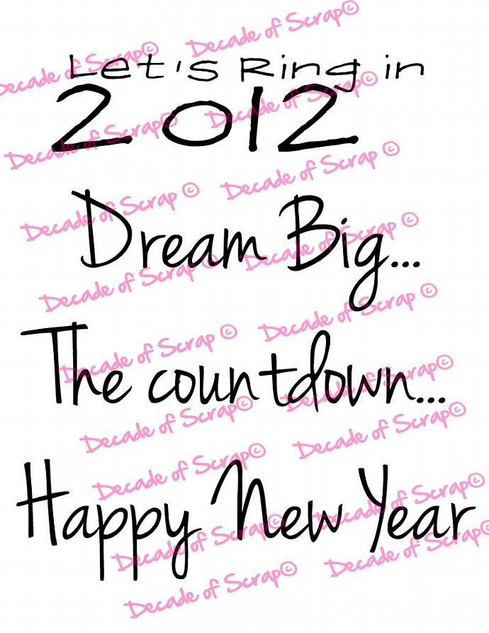New Years 4 Sentiments Digi Image