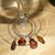 Crystal Striated Bead Wine Charms