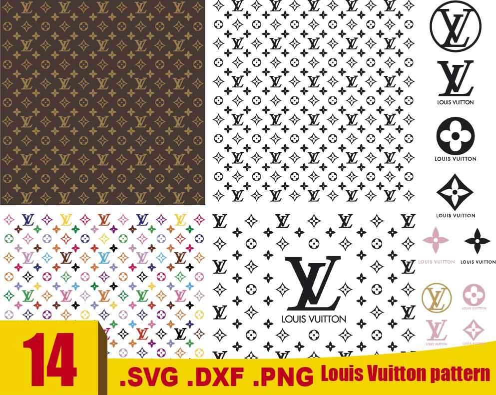 Louis Vuitton Svg Louis Vuitton Pattern Svg By Rhinodigital On