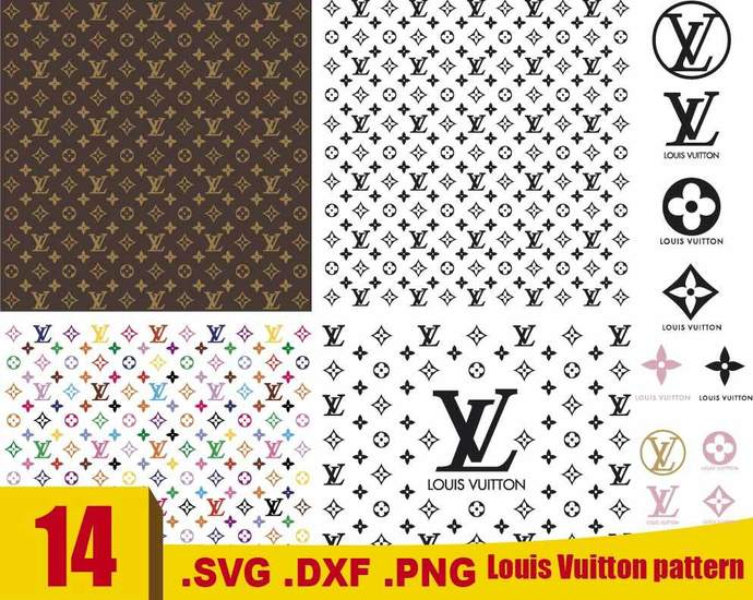 Louis Vuitton Svg Louis Vuitton Pattern Svg By Rhinodigital On