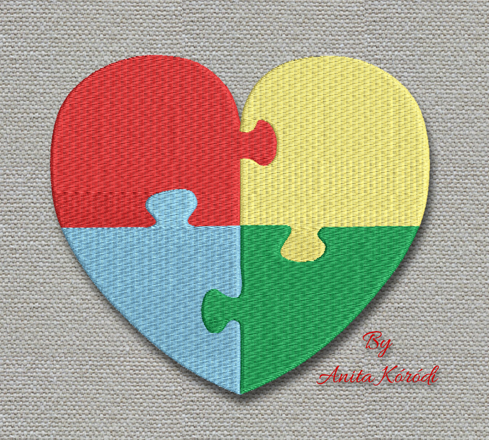 Autism Machine Embroidery Design pes designs machine digital instant download