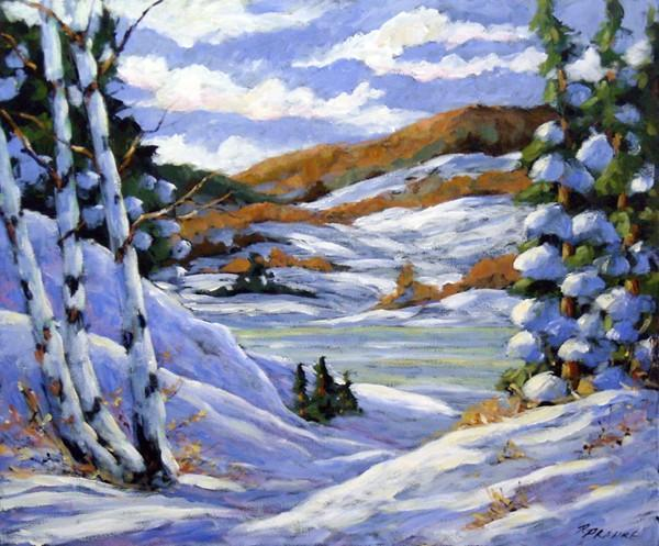 Majestic Winter  Original Oil Painting by Prankearts