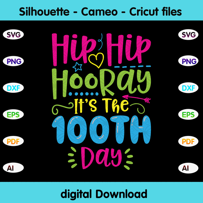 Hip hip hooray it's the 100th day,Happy 100th day of school,100th day of school