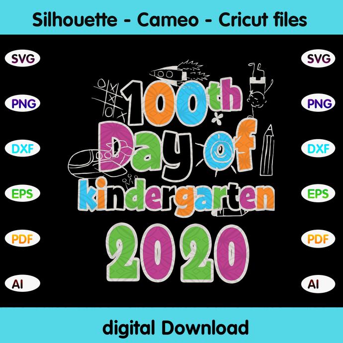 100th day of kinder 2020,kinder 2020, happy back to school 2020,kindergarten