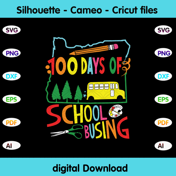 100 days of school busing, Happy 100th day of school,hello school, back to