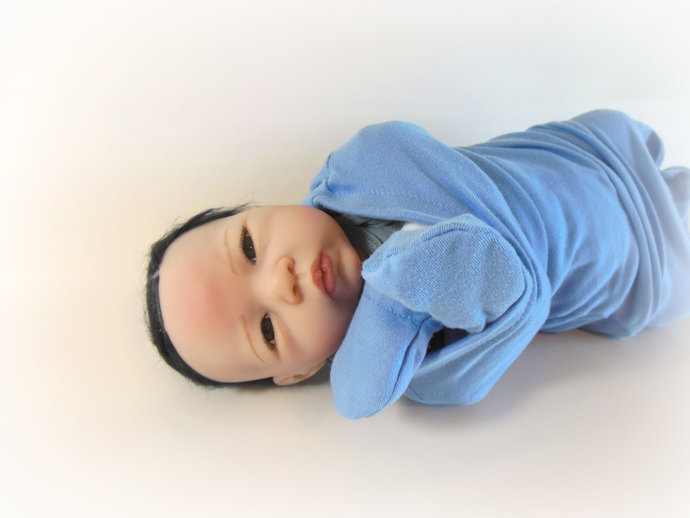 Swaddle Sack, Sleep Sack, Cocoon, Blanket, Wrap, & Scratch Mittens in Solid