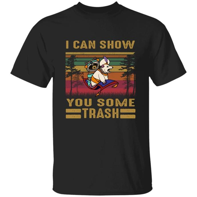 Can Show You Some Trash Vintage Retro Raccoon TShirt