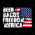 Beer Bacon Freedom 'Merica - American Flag, Beer Bacon, Gift Idea, Digital Art,