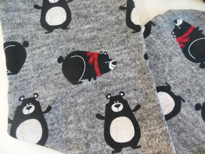Winter Bear Swaddle Sack, Christmas Bear Sleep Sack, Winter Bear Baby Hat,