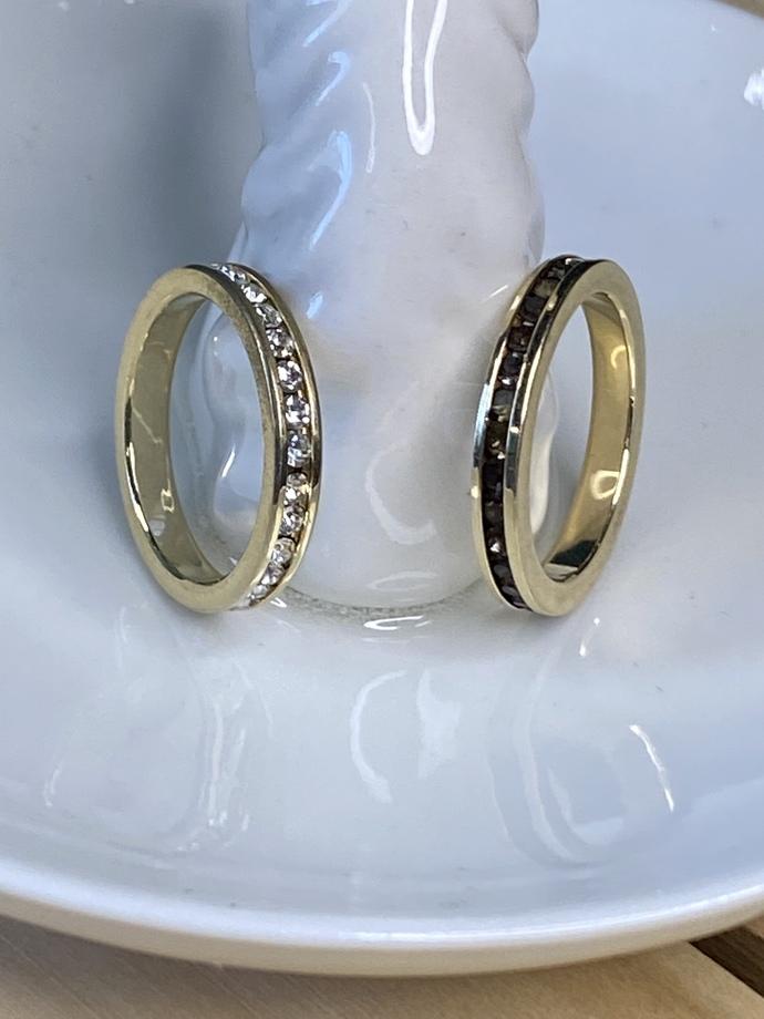 Set of Two Fashion Rhinestone Rings