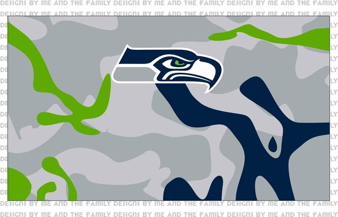 Seattle Seahawks v2, face mask design, full coverage sublimation, NFL, PNG