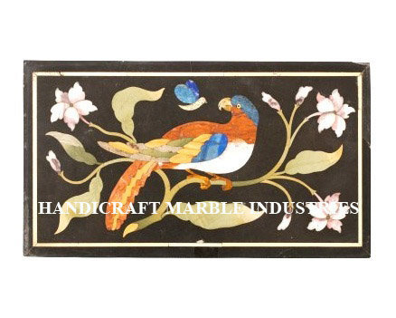Wall Panel Modern Bird Design Black Marble Inlay Home Decor Furniture Gift Wall