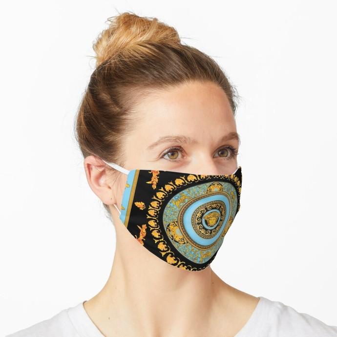 Versace, Versace 56, Versace logo, Versace Face Mask, Luxury Mask, Halloween