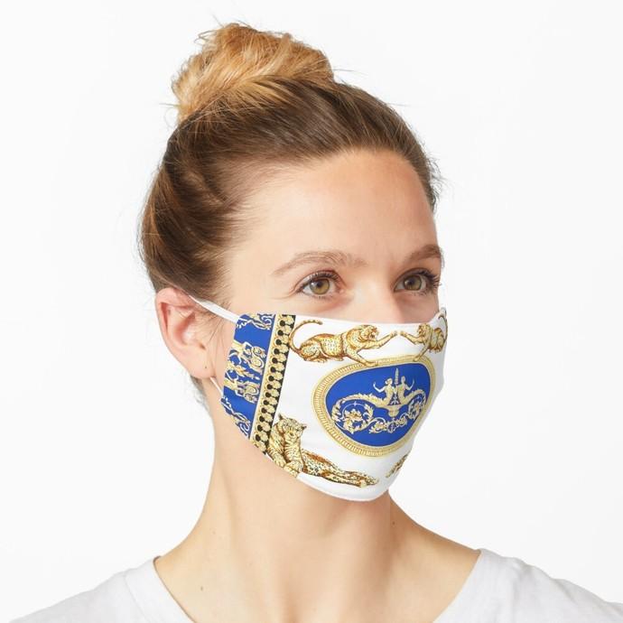 Versace, Versace 58, Versace logo, Versace Face Mask, Luxury Mask, Halloween