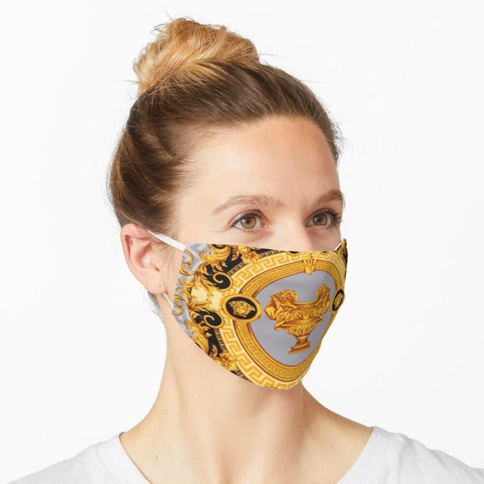 Versace, Versace 59, Versace logo, Versace Face Mask, Luxury Mask, Halloween