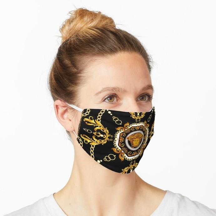 Versace, Versace 70, Versace logo, Versace Face Mask, Luxury Mask, Halloween