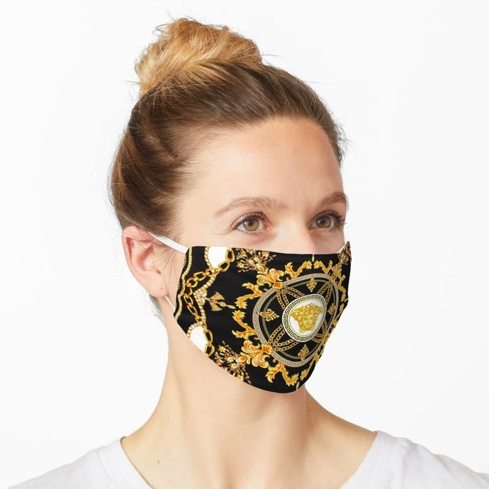Versace, Versace 74, Versace logo, Versace Face Mask, Luxury Mask, Halloween