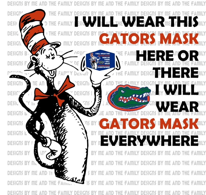 Cat in the Hat Florida Gators mask, I will wear this Gators mask here or there I