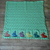 """Curious Bunnies Baby Blanket Afghan Hand Knit 34"""" x 34"""" Shower Gift / Baby"""