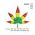 marijuana leaf embroidery design, Marijuana embroidery pattern, rasta colors