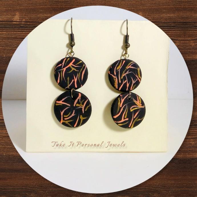 Fall Handmade Hand-Painted Polymer Clay Earrings Fall Jewelry