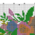 #369 Flamingo Hawaiian flowers Modern Cross Stitch Pattern, orchids counted