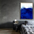 Blue landscape artwork, Abstract Art, blue wall art, Minimalist Wall Art ,