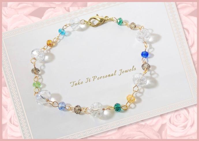 Dainty Crystal Bracelet Minimalist Jewelry Handmade