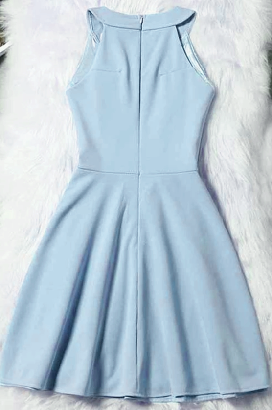 Light Blue Short Homecoming Dress, Blue Prom Dress, Graduation Dress