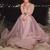 high neck beaded prom dresses long sleeve dusty pink elegant peals tulle prom