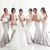 silver mermaid bridesmaid dresses long simple elegant cheap custom make wedding